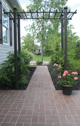 Down to Earth® 350 Red Paver | 4 x 8 Velour Texture