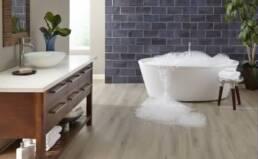 What is 'waterproof flooring?